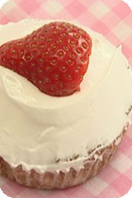 Gizzi's Strawberries and Cream Cupcakes