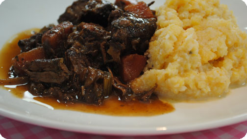 Rich Beef Stew with Root Vegetable Mash